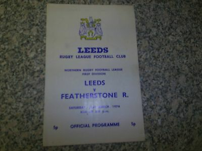 1974 Leeds V Featherstone Rovers.