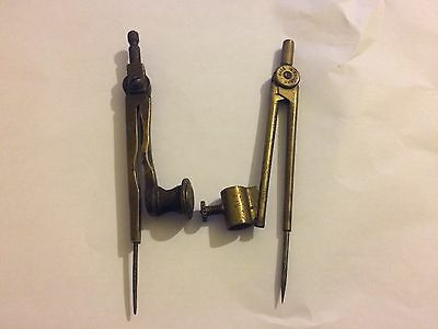 **pair Of Compasses - One Brass & One Yellow Metal*****