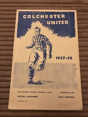 Colchester United v Ipswich Town 1957/58
