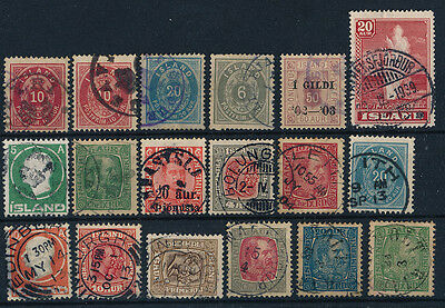 Iceland. COLLECTION of better cancellations #1