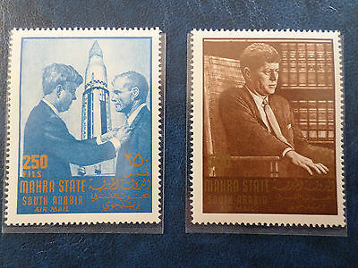 lot timbres neufs 1967 mahra kennedy 1967