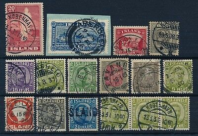 Iceland. COLLECTION of better cancellations #5
