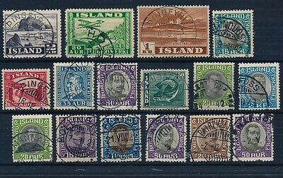 Iceland. COLLECTION of better cancellations #6