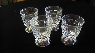 Set of 4 ~ 9 oz Footed Tumbler Glasses Whitehall Pattern by COLONY Flare Version
