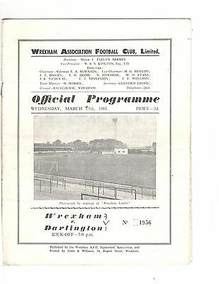 Wrexham v Darlington 1960 - 1961