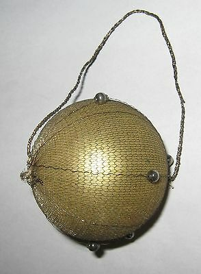 """Antique German Victorian Christmas Ornament Wire Wrapped Feather Tree 2 1/2"""""""