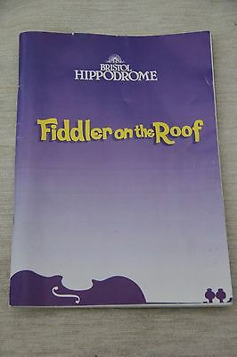 """""""Fiddler on the Roof"""" Theatre Programme.[TOPOL & Daughter ADI TOPOL] 1994."""