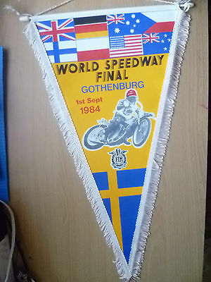 Speedway Pennants- 1984 WORLD SPEEDWAY FINAL GOTHENBURG, 1st September (45x25cm)