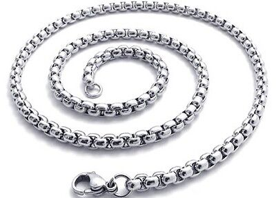"Stainless Steel Women's/Men's Charm Necklace Chain 24""Link Fashion Jewerly"