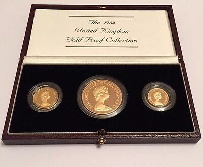 1984 Gold Proof Three Coin Set (incomplete)