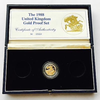 1988 Gold Proof Three Coin Set Boxed With COA (incomplete)