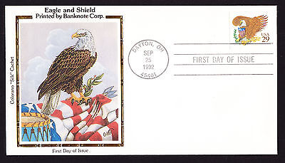 USA 1992 FDI FDC First Day Cover American Eagle and Shield Cachet US Bird Prey