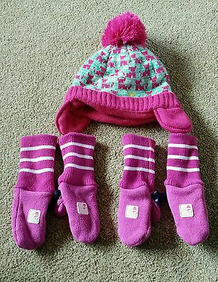 hat and gloves 1-2 year old girl