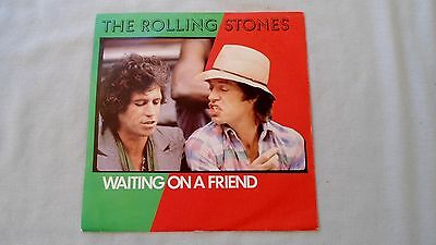 """THE ROLLING STONES 7"""" WAITING ON A FRIEND b/w LITTLE T&A RSR109 PS 1981"""