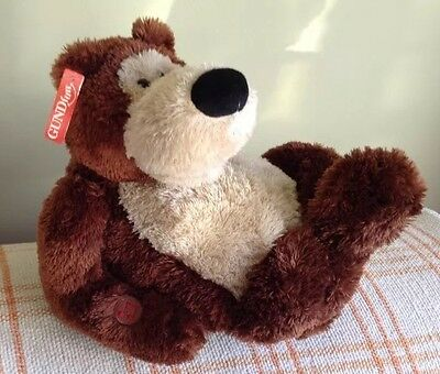 Gund -Gruber - Animated singing and foot-tapping bear with tags