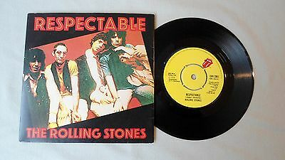 """THE ROLLING STONES 7"""" RESPECTABLE b/w WHEN THE WHIP COMES DOWN. EMI 2861 PS"""