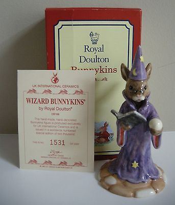 Royal Doulton Wizard Bunnykins, DB168, Limited Edition of 2000 with Box