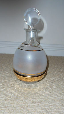 Art Deco Style Glass And Gold Decanter