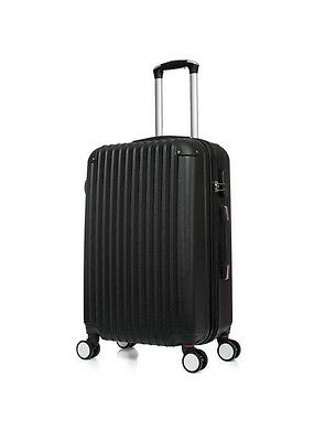 "Black 4 Wheels Large 28 ""Suitcase ABS Luggage Hard Shell Trolley"