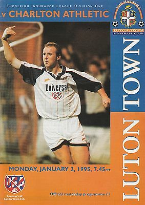 Luton v Charlton - Official Programme Division One 2.1.1995