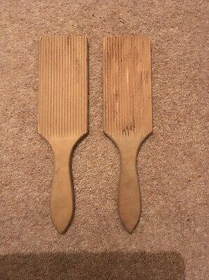 Vintage Wooden Butter Pats, Paddles, Farmhouse Styling