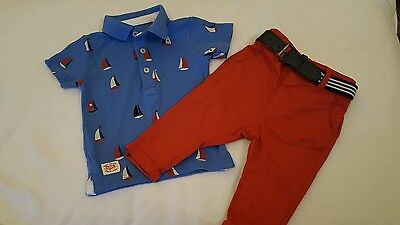 Next Baby Boy Outfit 3-6 Months Polo Shirt and Chinos