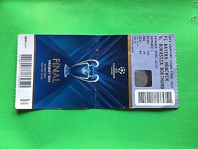 Ticket Bayern Munchen - Borussia Dortmund Final Champions League 2013 With Names