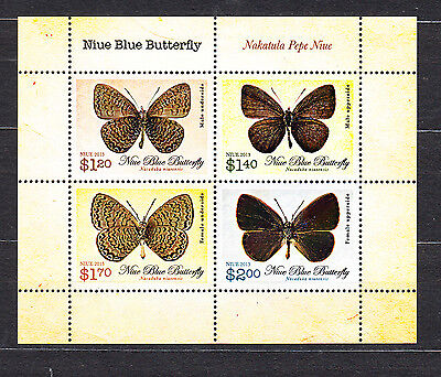 Niue 2013 Blue Butterfly Minature Sheet Mint Never Hinged