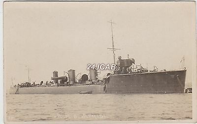 "Royal Navy Real Photo. HMS ""Afridi""  Tribal class destroyer.  Served WW1. c 1910"