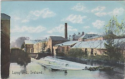 Irish Postcard. Longford, Ireland. Advertising for promotion on back.   c 1910