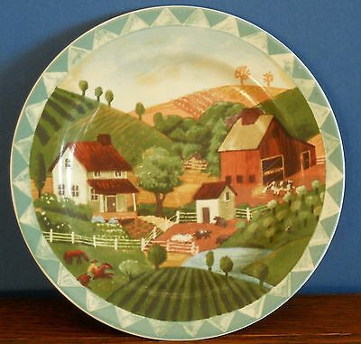 """An 8 """" Country Life stoneware plate By PTS International [Interiors]"""