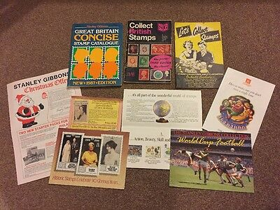 Stanley Gibbons and Royal Mail Books And Leaflets. Incl Concise Stamp Catalogue