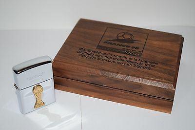 France 98 World Cup Collector Edition Zippo Lighter in Wooden Case 0007/5000