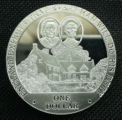 Cook Islands Silver Proof Dollar $1 2007 Horatio Nelson England Expects Ever