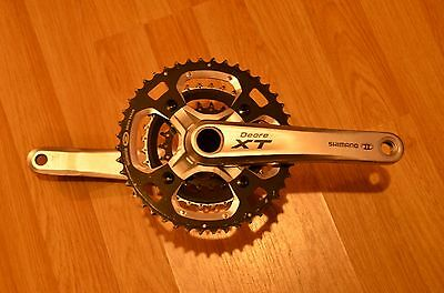 Shimano Deore XT FC-M770 175mm cranks 9 Speed Triple Chainset 44/32/22 Rings