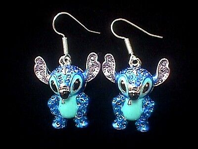 Disney 3-D Crystal Covered STITCH Earrings