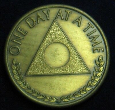 "Recovery Coin [26 Years] One Day At A Time / Serenity Prayer ~ 1.25"" Di"