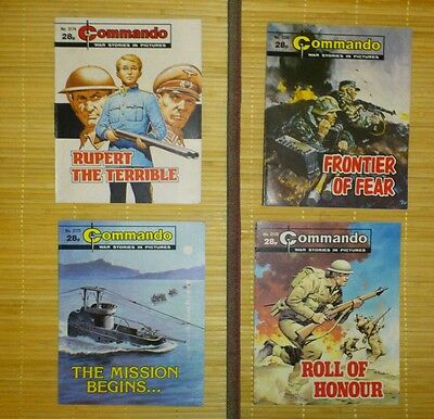 Vintage Commando Comic Books.
