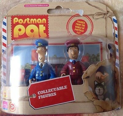 Postman Pat Collectable Figures - Twin Pack - Pat & Ajay - New & Sealed