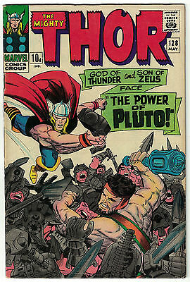 """The Mighty Thor Vol. 1 - #128   """"The Power of Pluto!""""   Marvel Comics - May 1966"""