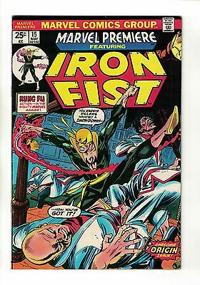 Marvel Premiere #15 | 1st Appearance of Iron Fist | Marvel Comics - May 1974