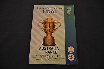 1999 Rugby World Cup Final Programme Australia v France Exc. Cond.