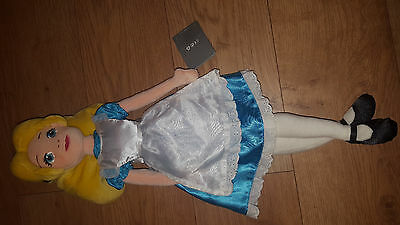 """Disney Store Exclusive Princess Doll Alice in Wonderland Soft Toy Approx 16"""".."""
