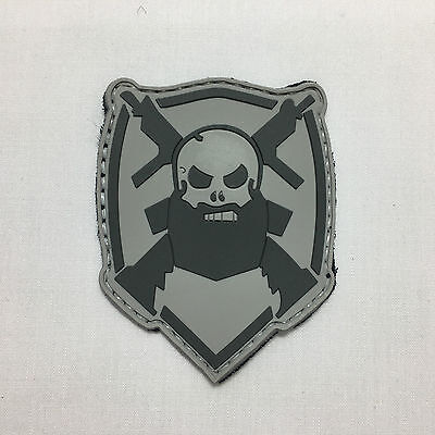 Bearded Skull - Velcro Patch airsoft military milsim tactical morale badge