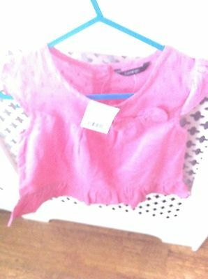 Bnwt Girls Pink George Blouse Age 3-4