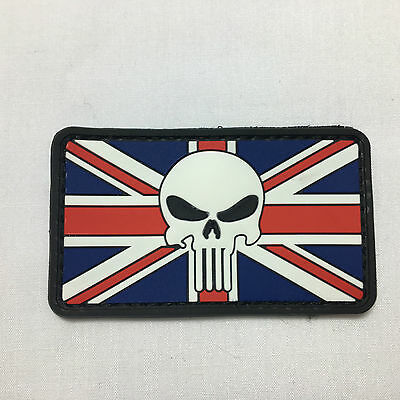 Punisher Union Jack - Velcro Patch airsoft military milsim tactical morale badge