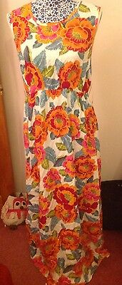 Ladies New Look Maternity Maxi Dress - Size 14 - New With Tags - Flower Pattern