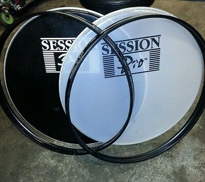 "22"" drum heads and hoops"