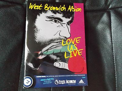 WEST BROMWICH ALBION V HULL CITY Football Programme 2016/17