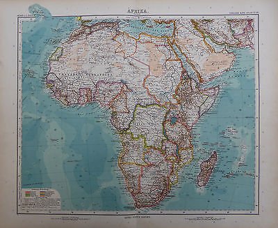 A detailed map of Africa by Adolf Stieler